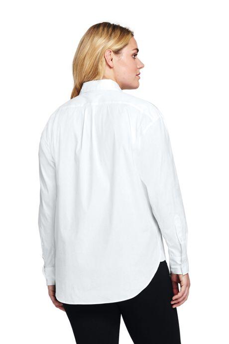 Women's Plus Size Poplin Boyfriend Shirt