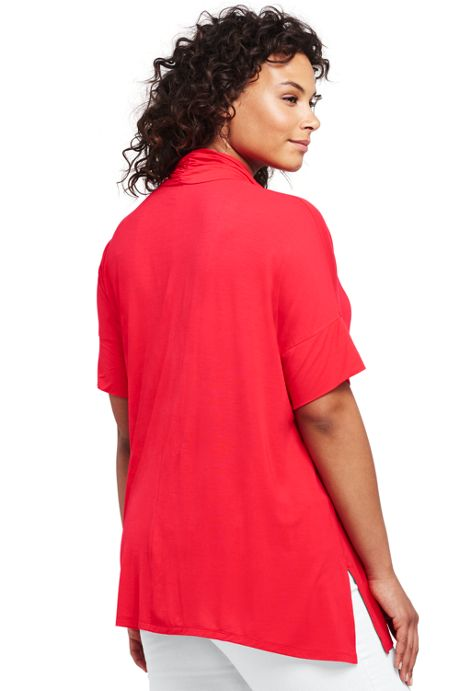 Women's Plus Size Cowl Tunic Top