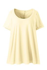 1d28b41ce65 Women s Plus Size Short Sleeve Button Back Scoop Neck T-Shirt