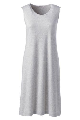 La Chemise de Nuit Sans Manches en Coton Supima, Femme Stature Standard