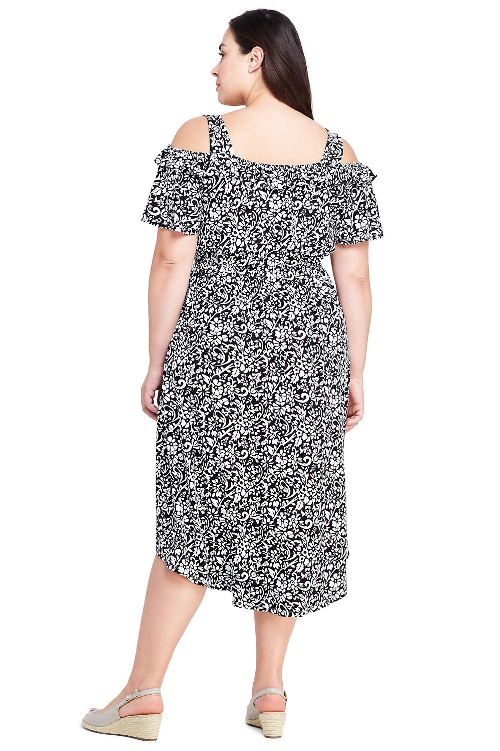 Women\'s Plus Size Peasant Dress from Lands\' End