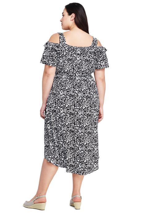 Women's Plus Size Peasant Dress