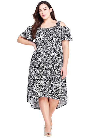 Women\'s Plus Size Peasant Dress