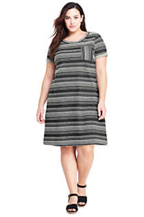 Women's Plus Size Pocket Dress, Front