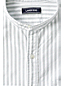 Men's Striped Grandad Collar Oxford Shirt, Tailored Fit