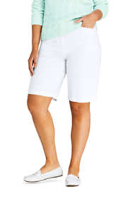 "Women's Plus Size Mid Rise 12"" Chino Bermuda Shorts"