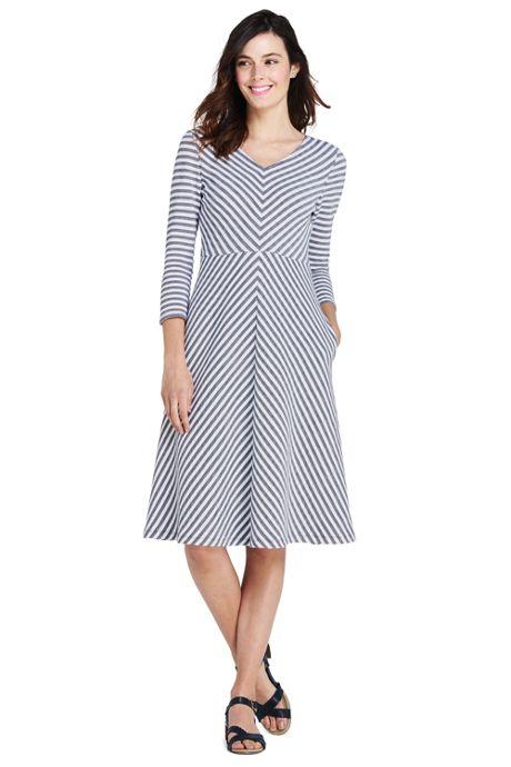 Women's 3/4 Sleeve Ponte Aline Dress