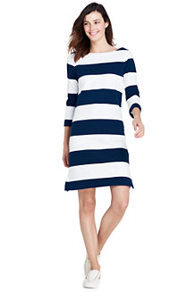 Women's Rugby Striped T-shirt Dress