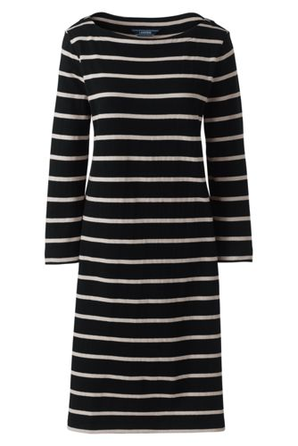 La Robe Housse Rayée en Jersey Manches 3/4, Femme Stature Standard