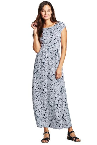 Maxi Dress with Cap Sleeves