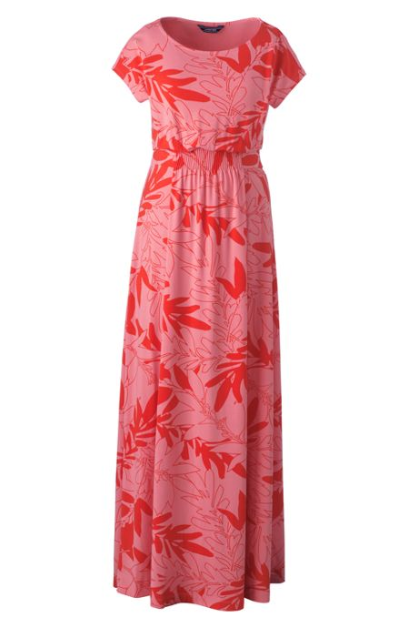 Women's Plus Size Cap Sleeve Knit Maxi Dress
