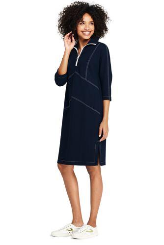 fe4cc08dd0c8f3 Women's Zip-neck Ponte Jersey Dress | Lands' End