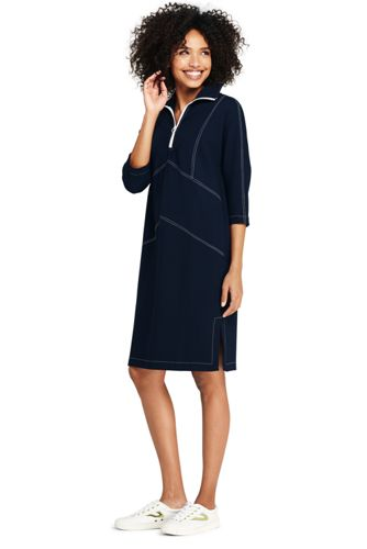 Women's Zip-neck Ponte Jersey Dress