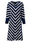 Women's Stripe T-shirt Dress with Dolman Sleeves