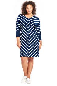 Women's Plus Size Long Sleeve Knit T-Shirt Dress