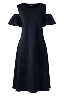 Women's Cold Shoulder A-line Ponte Dress