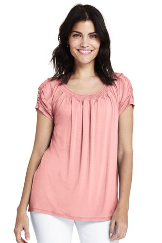 Women's Smocked Top by Lands' End