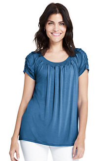 Women's Soft Jersey Smock Top