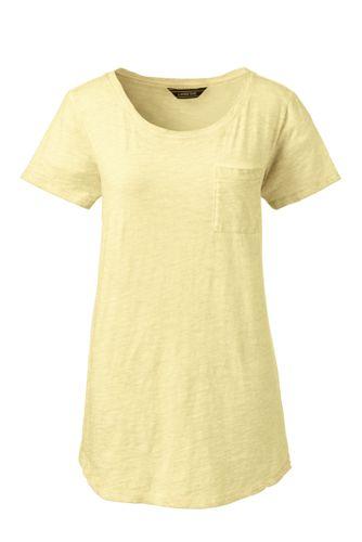mujer Plus jersey bolsillo para algodón Camiseta de de de wfY8Yq