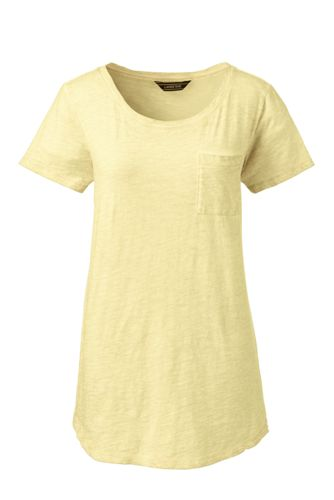 Women's Plus Cotton Jersey Pocket T-shirt