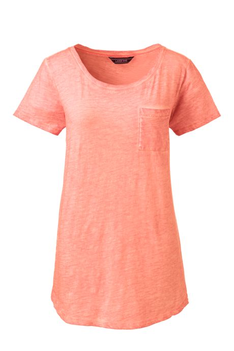 Women's Short Sleeve Pocket Crewneck T-shirt