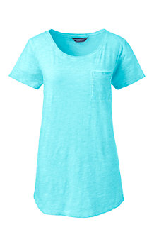 Le T-Shirt en Coton Poche Poitrine, Femme