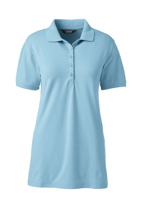 Women's Tall Pique Mesh Polo Shirt