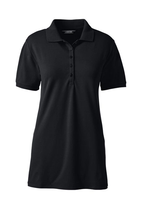 Women's Plus Size Pique Mesh Polo Shirt