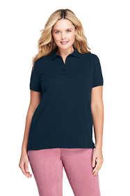 Women's Plus Size Pique Mesh Polo Shirt