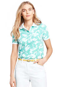 Women's Tall Print Pique Mesh Polo
