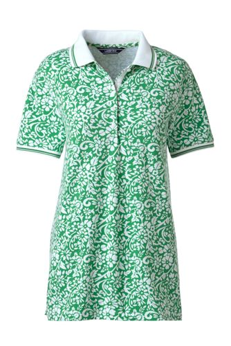 Women's Patterned Pique Polo Shirt