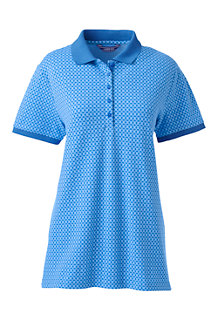 Women s Patterned Pique Polo Shirt bfd1946ba