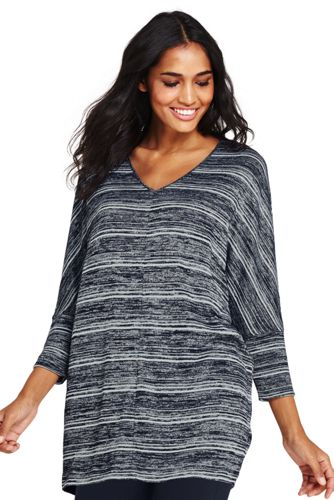 Womens Dolman Sleeve Striped Top