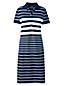 La Robe Polo Rayée Stretch, Femme Stature Standard