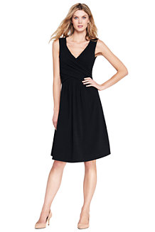 Women's Plain Sleeveless Fit & Flare Dress