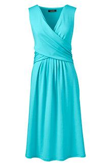 Jerseykleid in Wickeloptik mit Raffungen für Damen in Normalgröße