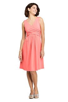 Women's Plain Sleeveless Fit & Flare Dress
