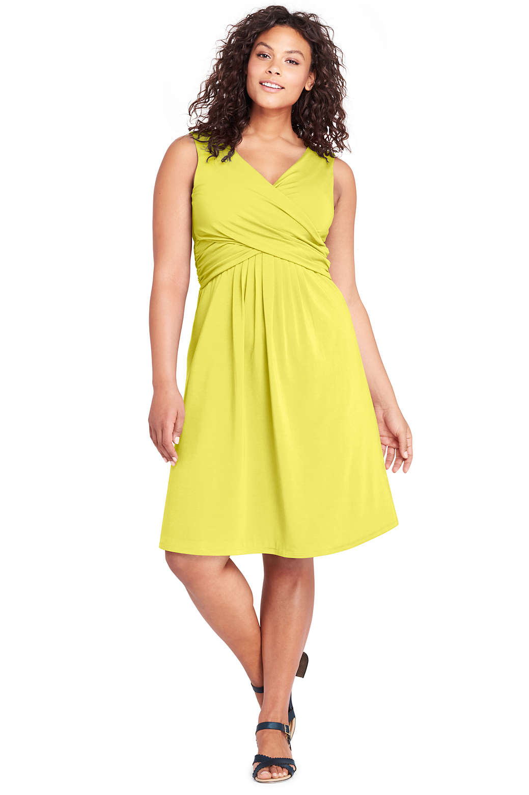 Women\'s Plus Size Sleeveless Fit and Flare Dress from Lands\' End