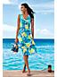 La Robe Effet Cache-Coeur à Motifs Sans Manches, Femme Stature Standard