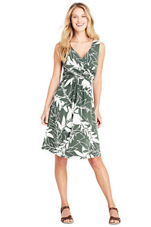 Women's Sleeveless Fit & Flare Patterned Dress