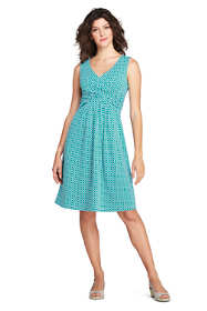 Women's Petite Sleeveless Fit and Flare Dress