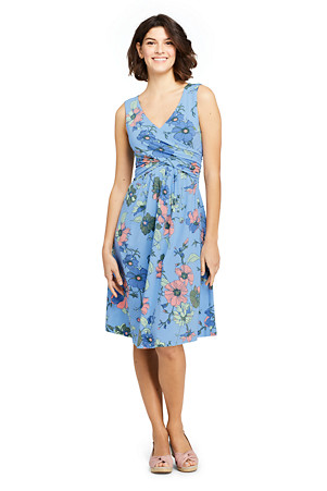 86c9ab2310 Women s Sleeveless Fit   Flare Patterned Dress