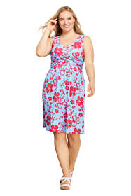 Women's Plus Size Wrap Front Fit and Flare Dress Knee Length