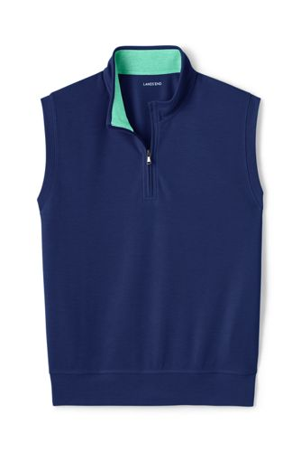 Men's Performance Piqué Sleeveless Half-zip Top