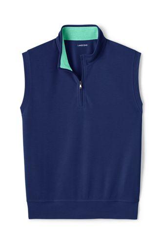 Men's Performance Piqué Sleeveless Half-zip Top