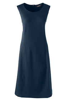 Women's Sleeveless Shift Dress in Ponte Jersey