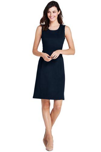 Women's Sleeveless Shift Dress in Ponte Jersey