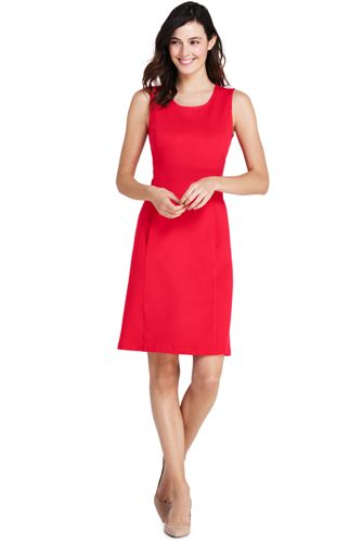 La Robe Fourreau Stretch Sans Manches en Ponte, Femme Stature Standard