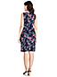 La Robe Fourreau Imprimée Stretch Sans Manches en Ponte, Femme Stature Standard
