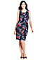 Women's Sleeveless Shift Dress in Print Ponte Jersey